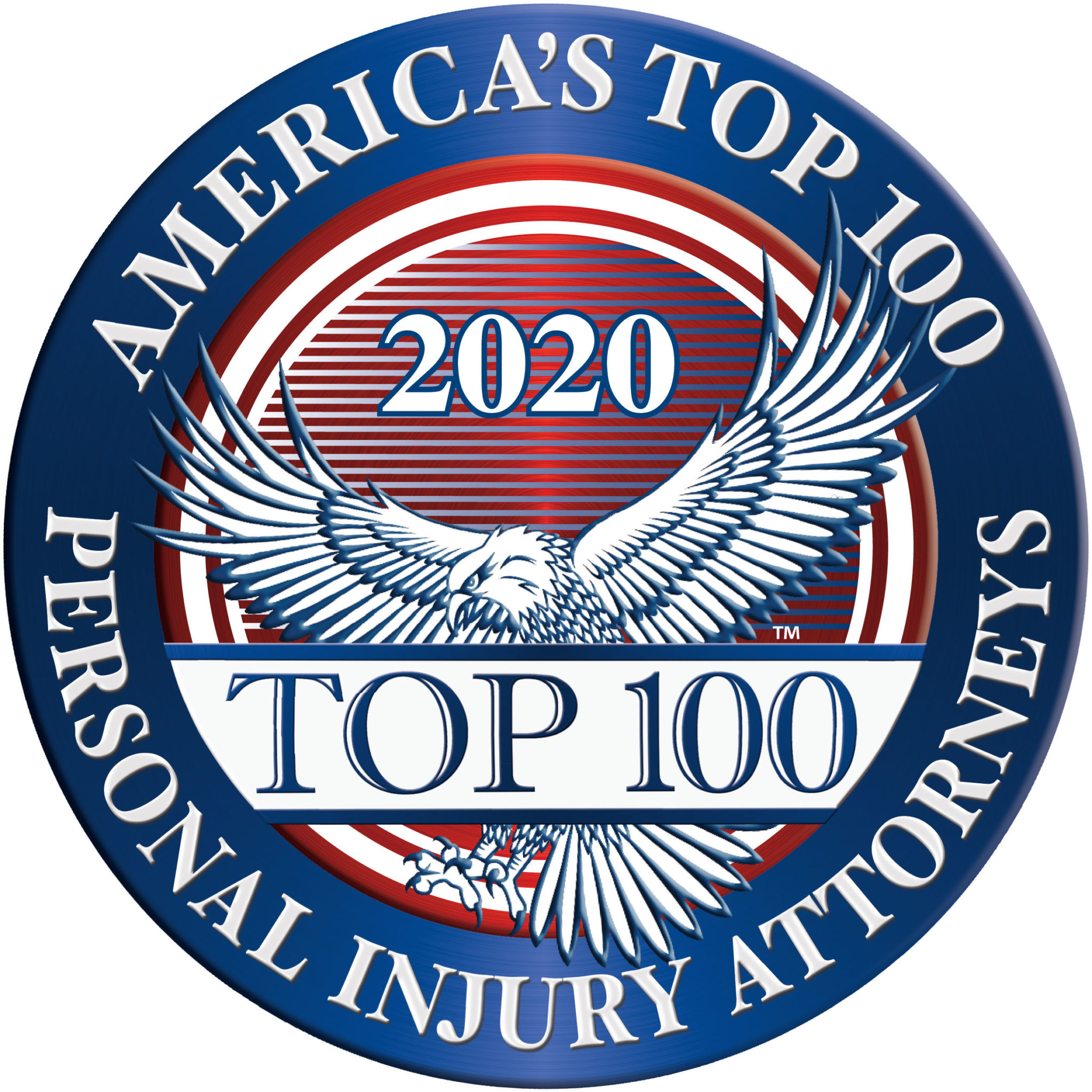 America's Top 100 Personal Injury Attorneys 2020 Recipient Award